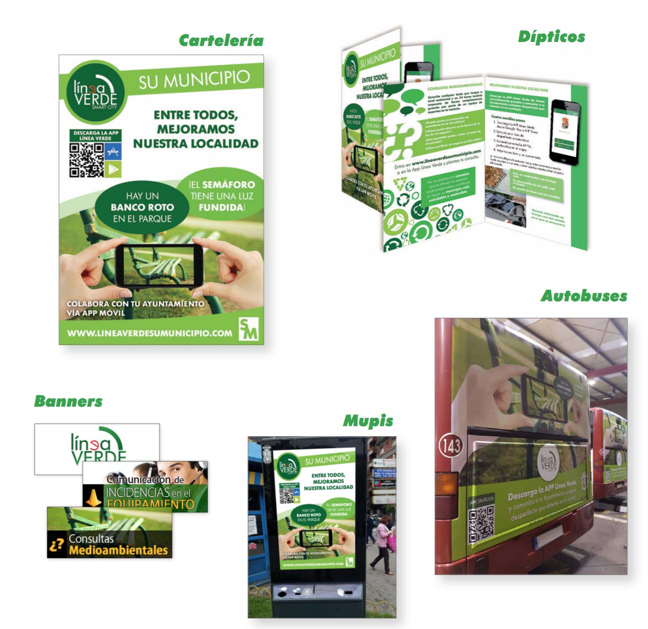 Campañas de difusión Línea Verde