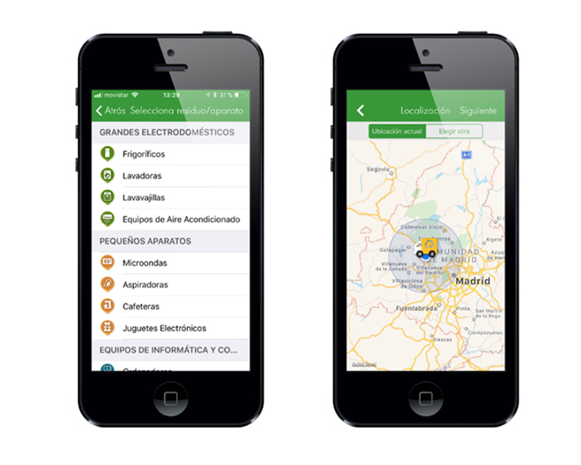 app pantallas Línea Verde