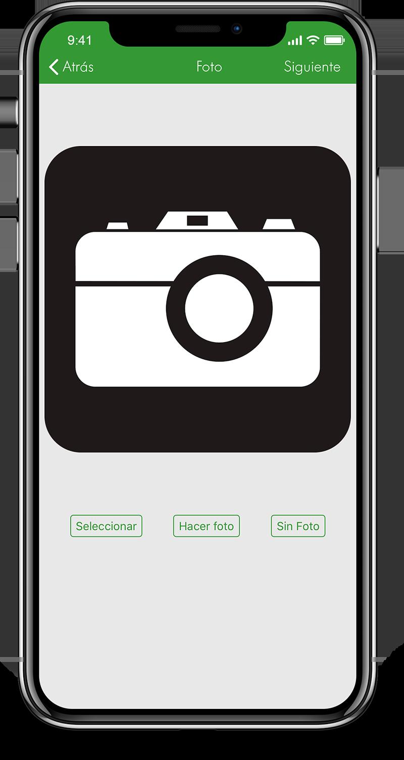 app pantalla tomar foto Línea Verde